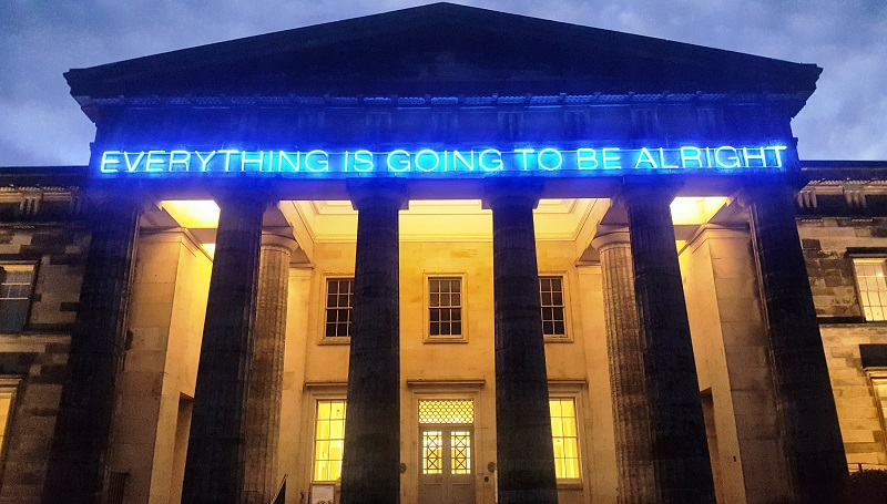 Work No. 975 Everything is going to be alright, Martin Creed, incertidumbre, realidad, ansiedad